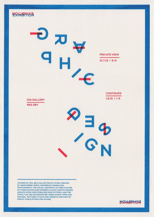 Aidans graphic design exhibition poster