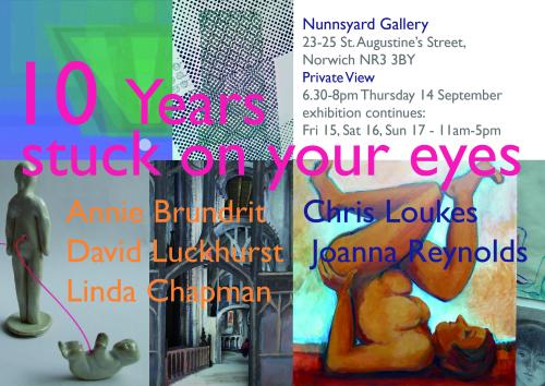 10 years invite print